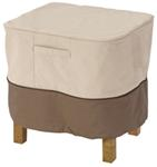 "Classic Accessories Patio Ottoman or Side Table Cover - Veranda Collection - 21"" Square"