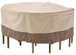 "Classic Accessories Cover for Patio Table-and-Chair Set - Veranda Collection - 60"" Diameter"