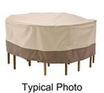 "Classic Accessories Cover for Tall Table-and-Chair Set - Veranda Collection - 60"" Diameter"