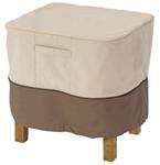"Classic Accessories Patio Ottoman or Side Table Cover - Veranda Collection - 26"" Square"