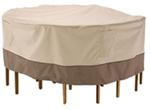 "Classic Accessories Cover for Patio Table-and-Chair Set - Veranda Collection - 70"" Diameter"