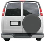 "Classic Accessories Custom Fit Spare Tire Cover - 21"" to 22"" - Gray"