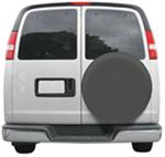 "Classic Accessories Custom Fit Spare Tire Cover - 24"" to 25"" - Gray"