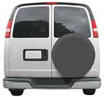 "Classic Accessories Custom Fit Spare Tire Cover - 25-1/2"" to 26-1/2"" - Gray"