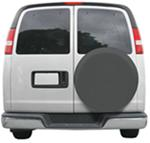 "Classic Accessories Custom Fit Spare Tire Cover - 26-3/4"" to 27-3/4"" - Gray"