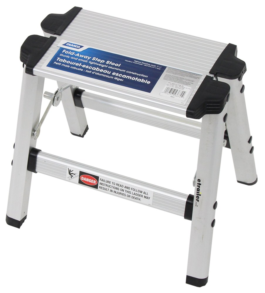 Camco Folding Step Stool Aluminum 11 1 2 Quot Tall Camco