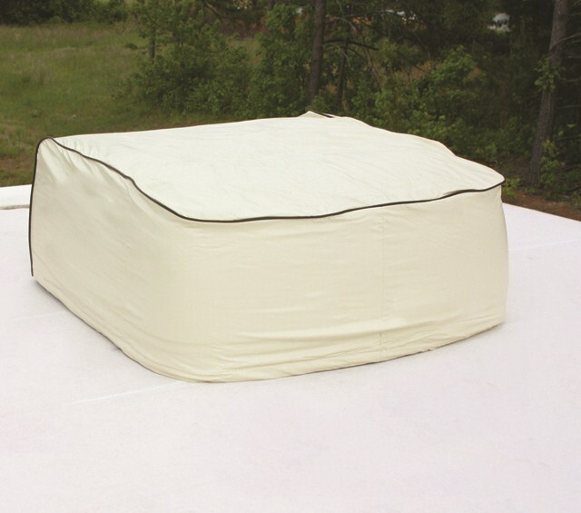 Amazing Air Conditioner RV Cover Polar White Vinyl For Carrier Roof Top Air