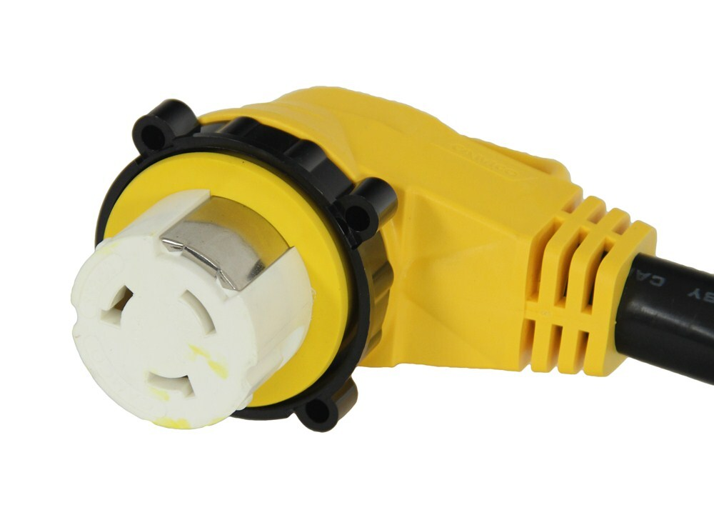 Power Grip 90Degree Locking RVMarine Power Cord w