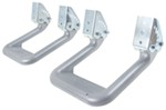 "Carr Custom-Fit Side Steps - Hoop II - Silver Powder Coated Aluminum - 7"" Step - 1 Pair"