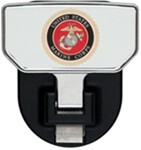 Carr Custom-Fit Tow-Hook-Mounted Step - Aluminum - US Marine Corps Logo - Qty 1
