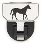 Carr Custom-Fit Tow-Hook-Mounted Step - Aluminum - Horse Graphic - Qty 1