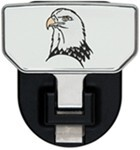 Carr Custom-Fit Tow-Hook-Mounted Step - Aluminum - Bald Eagle Graphic - Qty 1