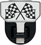 Carr Custom-Fit Tow-Hook-Mounted Step - Aluminum - Checkered Flags Graphic - Qty 1