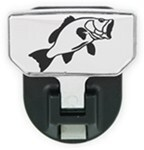 Carr Custom-Fit Tow-Hook-Mounted Step - Aluminum - Bass Graphic - Qty 1
