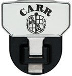 "Carr Hitch Mounted Step for 2"" Trailer Hitches - Aluminum - CARR Logo"