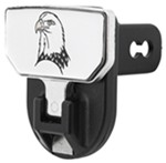 "Carr Hitch Mounted Step for 2"" Trailer Hitches - Aluminum - Bald Eagle Graphic"