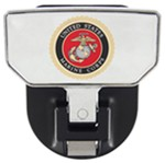 "Carr Hitch Mounted Step for 2"" Trailer Hitches - Aluminum - US Marine Corps Logo"