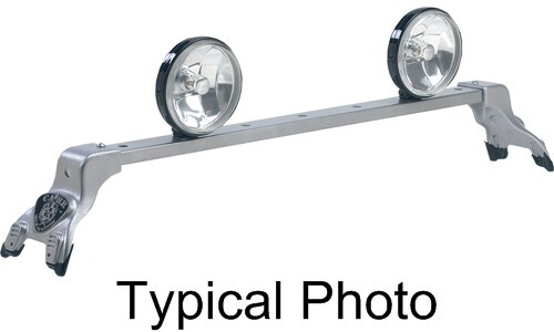 CARR210874 Carr Deluxe Rota Light Bar - Silver Powder Coated Steel