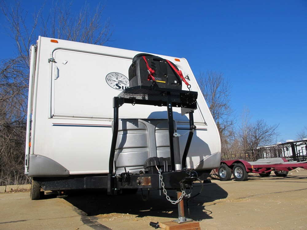 Popular Hitch Mounted Camper Step And Generator Mount  YouTube