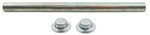 "Roller Shaft with Pal Nuts for Boat Trailer Rollers - Zinc-Plated Steel - 9-1/4"" x 5/8"""