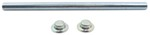 "Roller Shaft with Pal Nuts for Boat Trailer Rollers - Zinc-Plated Steel - 11-1/8"" x 5/8"""
