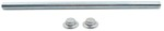 "Roller Shaft with Pal Nuts for Boat Trailer Rollers - Zinc-Plated Steel - 13-1/2"" x 5/8"""