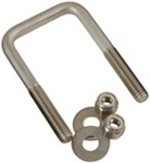 "CE Smith U-Bolt - Stainless Steel - 3"" Long x 4-1/8"" Wide x 7/16"" Diameter - Qty 1"