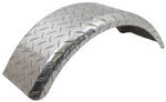 "CE Smith Single-Axle Trailer Fender - Aluminum Tread Plate - 8"" Tires - Qty 1"