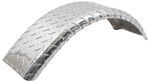 "CE Smith Single-Axle Trailer Fender - Aluminum Tread Plate - 12"" Tires - Qty 1"