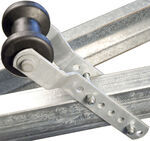 "CE Smith Keel Roller Assembly for 2"" Wide Trailer Tongues - Galvanized Steel and Black Rubber"
