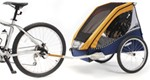 Chariot Cabriolet Bike Trailer - Touring Series - 2 Child - Gold/Silver/Navy - 1 Year and Older