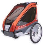 Chariot Corsaire XL Bike Trailer - Touring Series - 1 Child - Apricot/Red/Gray - 1 Year and Older