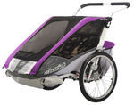 Chariot Cougar Child Carrier Chassis - Sport Series - 2 Child - Purple/Silver/Gray