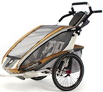 Chariot CX Deluxe Child Carrier Chassis - Sport Series - 2 Child - Copper/Gray/Silver