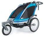 Chariot Chinook Stroller and Jogger - Urban Series - 1 Child - Newborn and Up - Aqua/Gray/Periwinkle