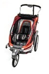 Chariot Chinook Stroller and Jogger - Urban Series - 1 Child - Newborn and Up - Pumpkin/Burg/Orange