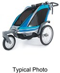 Chariot Chinook Stroller and Jogger - Urban Series - 1 Child - Newborn and Up - Charcoal/Blk/Silver