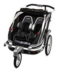 Chariot Chinook Stroller and Jogger - Urban Series - 2 Child - Newborn and Up - Charcoal/Blk/Silver