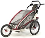 Chariot CX Jogging Stroller - Sport Series - 2 Child - Burgundy/Gray/Silver - 6 Months and Older