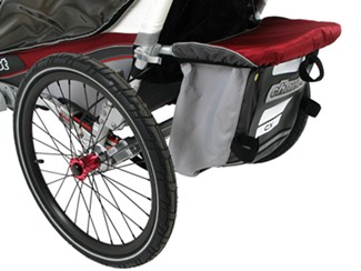 Chariot CX storage compartment with cover