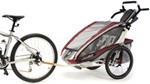 Chariot CX Bike Trailer - Sport Series - 2 Child - Burgundy/Gray/Silver - 12 Months and Older