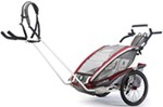 Chariot CX Hiking Stroller - Sport Series - 2 Child - Burgundy/Gray/Silver - 6 Months and Older