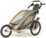 Chariot CX Jogging Stroller - Sport Series - 2 Child - Copper/Gray/Silver - 6 Months and Older