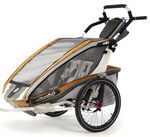 Chariot CX Stroller - Sport Series - 2 Child - Copper/Gray/Silver - Newborn and Older