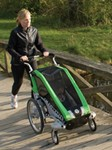 Chariot Cheetah Stroller - Sport Series - 1 Child - Green/Black/Silver - Newborn and Older