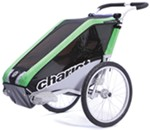 Chariot Cheetah Bike Trailer and Stroller - 1 Child - Green/Black/Silver - 12 Months and Older