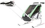Chariot Cheetah Skiing and Walking Stroller - 1 Child - Green/Black/Silver - 6 Months and Older