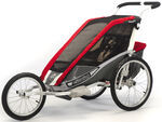Chariot Cougar Jogging and Walking Stroller - 1 Child - Red/Silver/Gray - 6 Months and Older