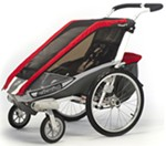 Chariot Cougar Stroller - Sport Series - 1 Child - Red/Silver/Gray - Newborn and Older