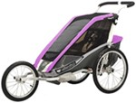 Chariot Cougar Jogging and Walking Stroller - 1 Child - Purple/Silver/Gray - 6 Months and Older